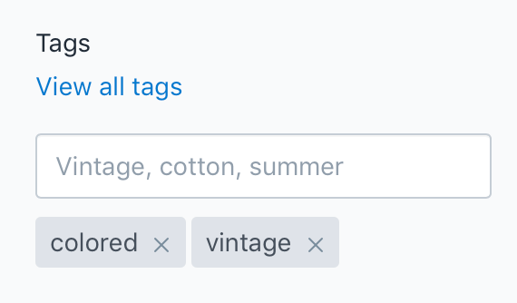 Shopify Tags
