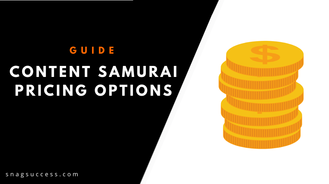 Content Samurai Pricing Options